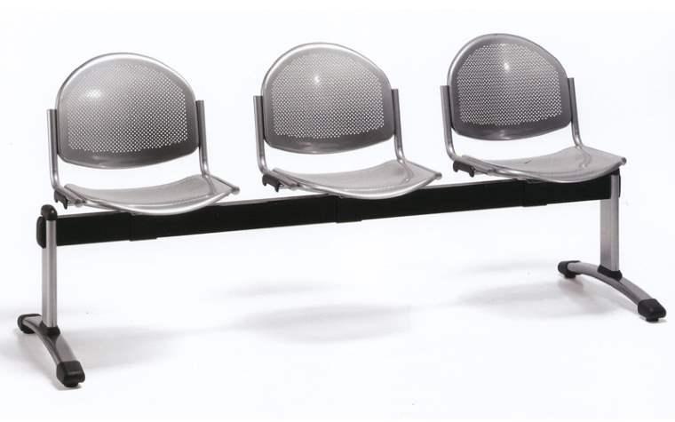 METAL, assise et dossier métal perforé