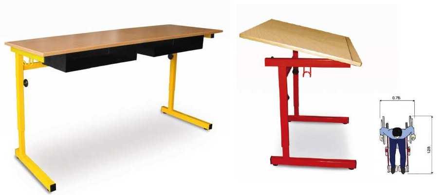 table reglable en hauteur handicap