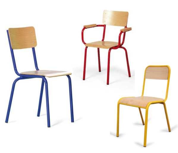 Qualidesk le mobilier scolaire de la maternelle la - Chaise enfant accoudoir ...